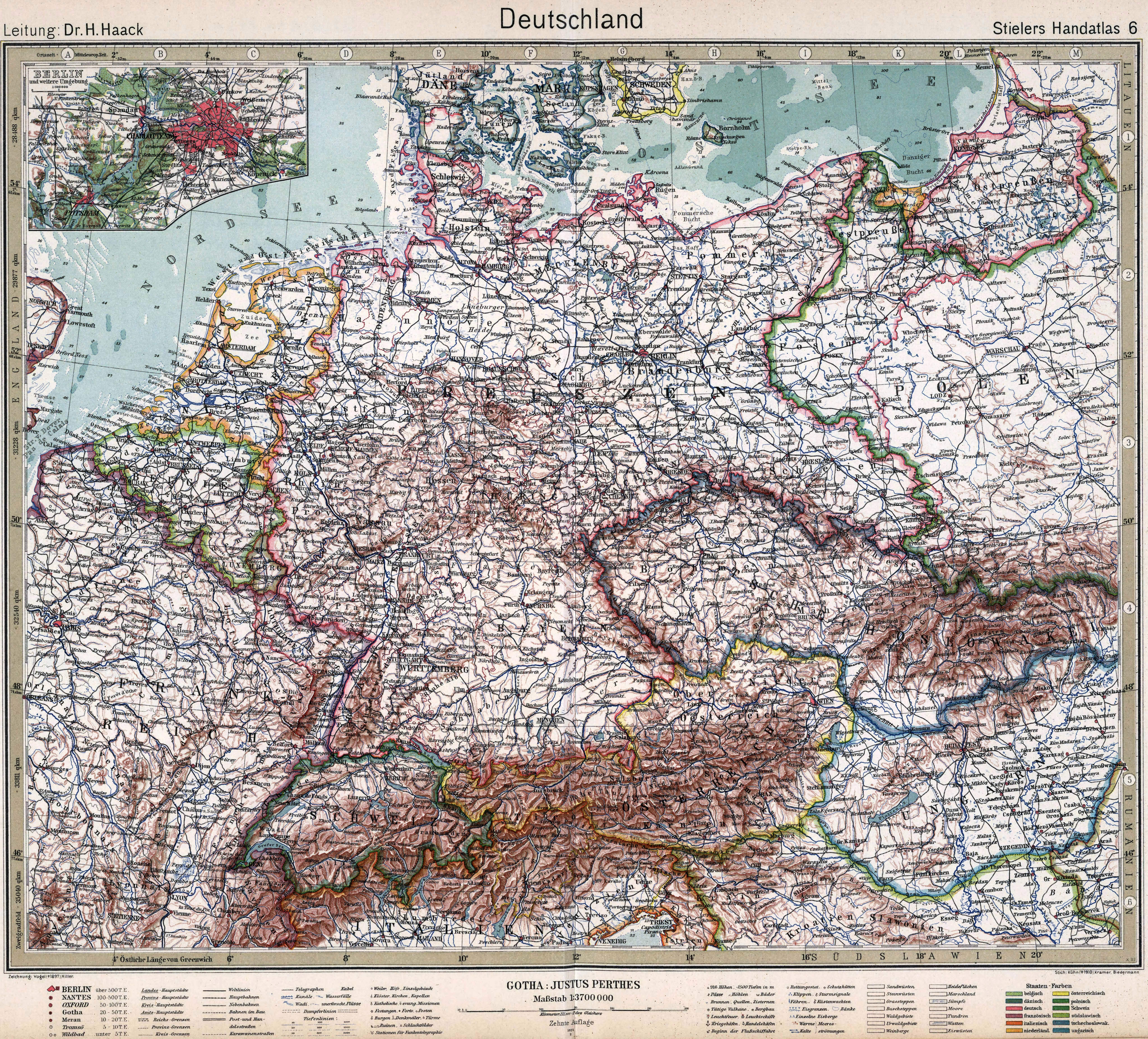 Map Of Germany 1919.File Stielers Handatlas 1925 Map 6 Germany 1919 1937