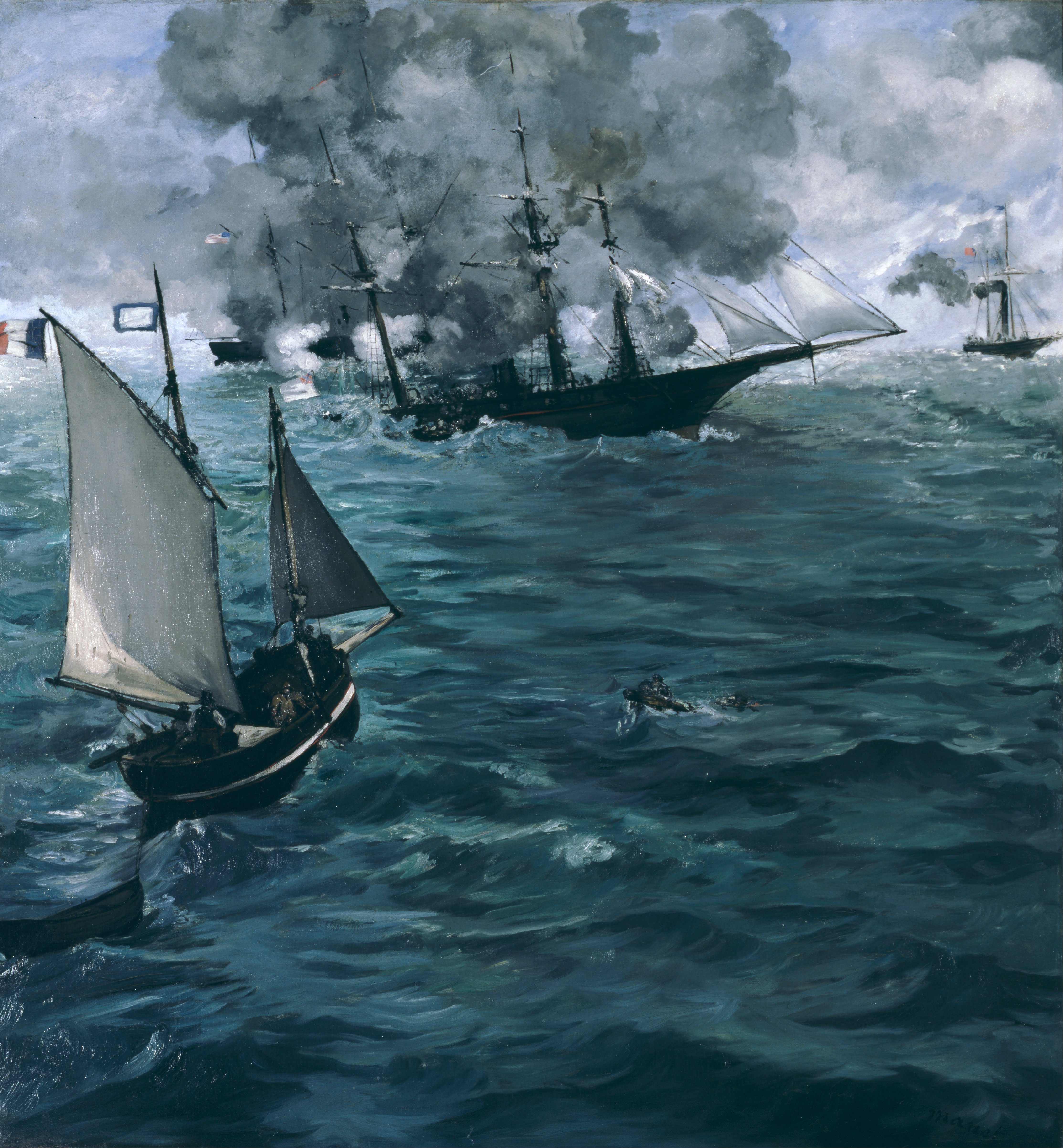 https://upload.wikimedia.org/wikipedia/commons/6/65/%C3%89douard_Manet,_French_-_The_Battle_of_the_U.S.S._%22Kearsarge%22_and_the_C.S.S._%22Alabama%22_-_Google_Art_Project.jpg