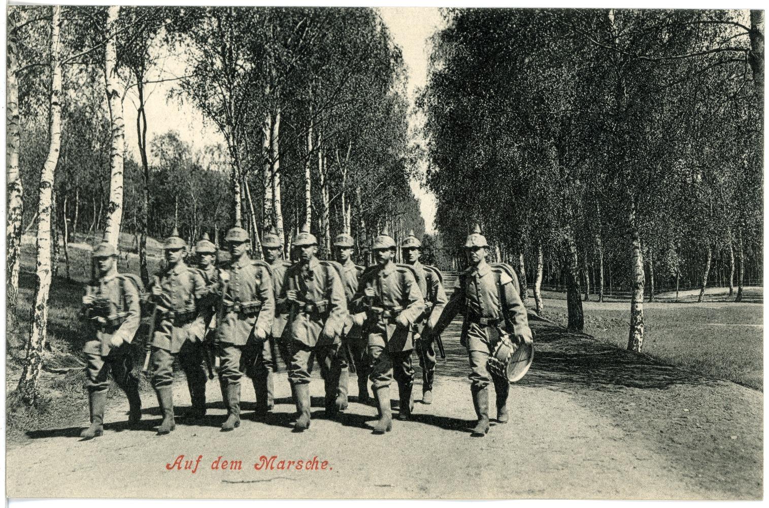 File:17798-Dresden-1914-Infanterie auf dem Marsch-Brück & Sohn