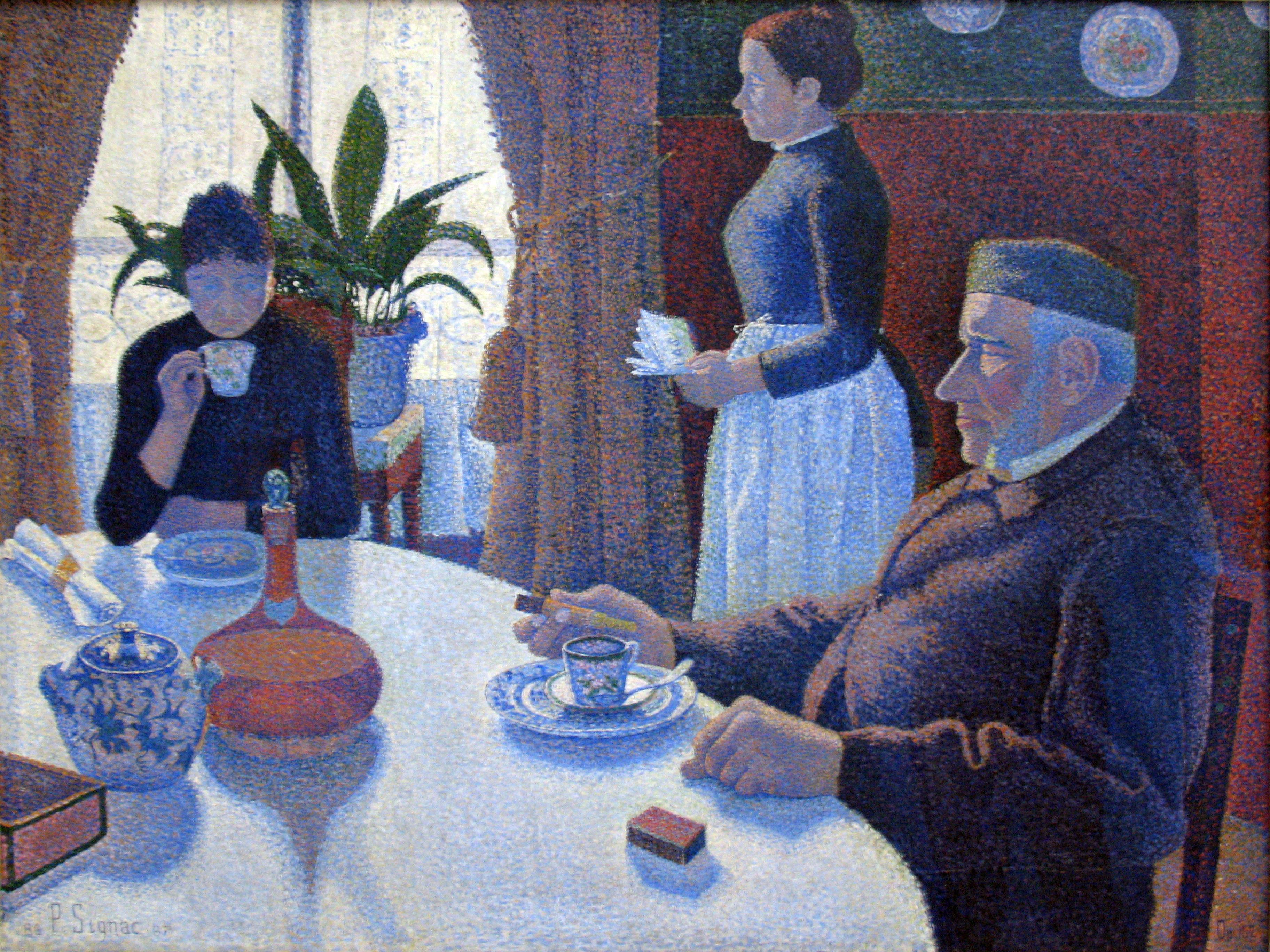 File 1886 signac la salle a manger anagoria jpg - La salle a manger ...