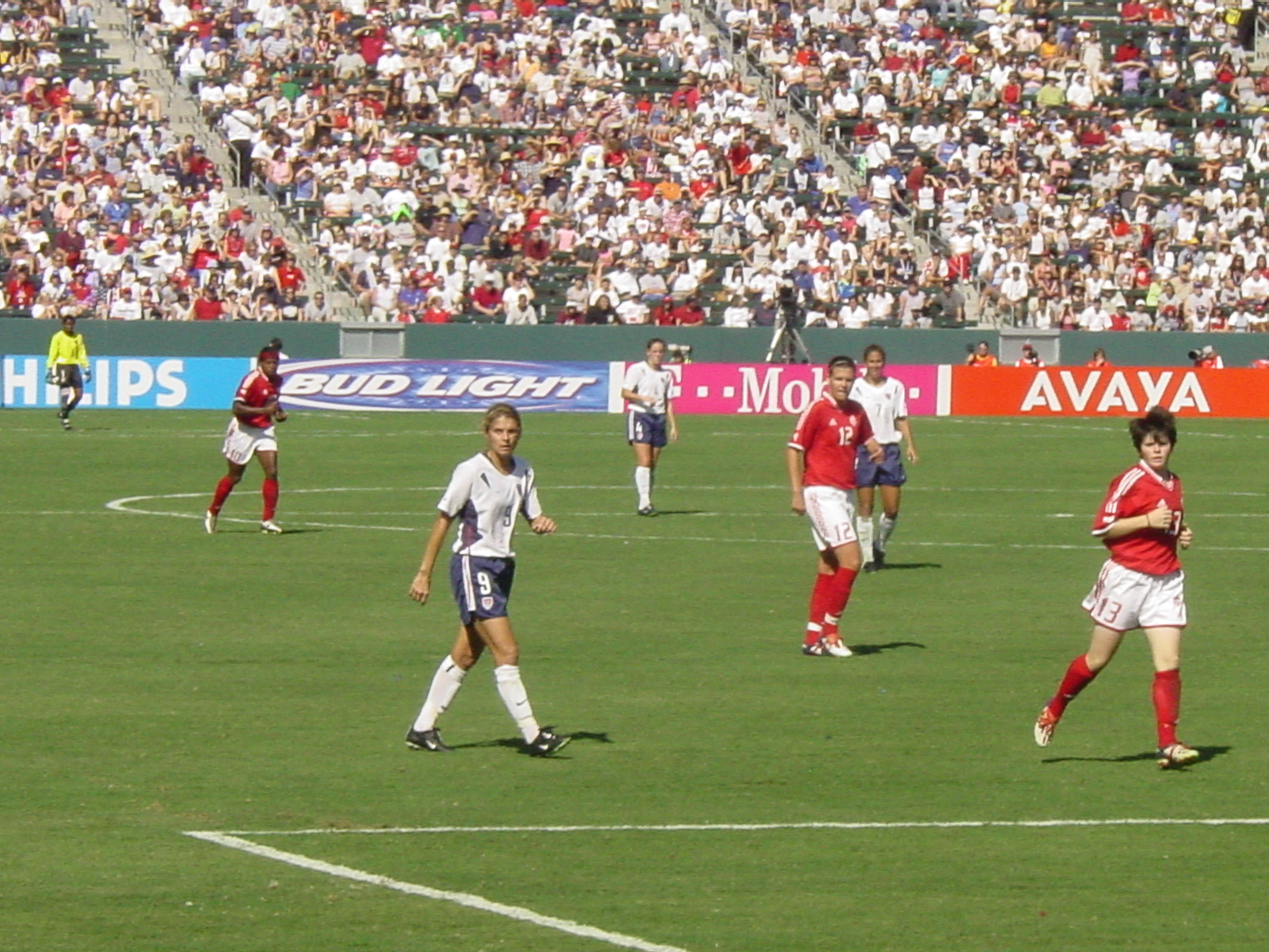 13ab57596789 Hamm during the third-place match against Canada at the 2003 FIFA Women s  World Cup