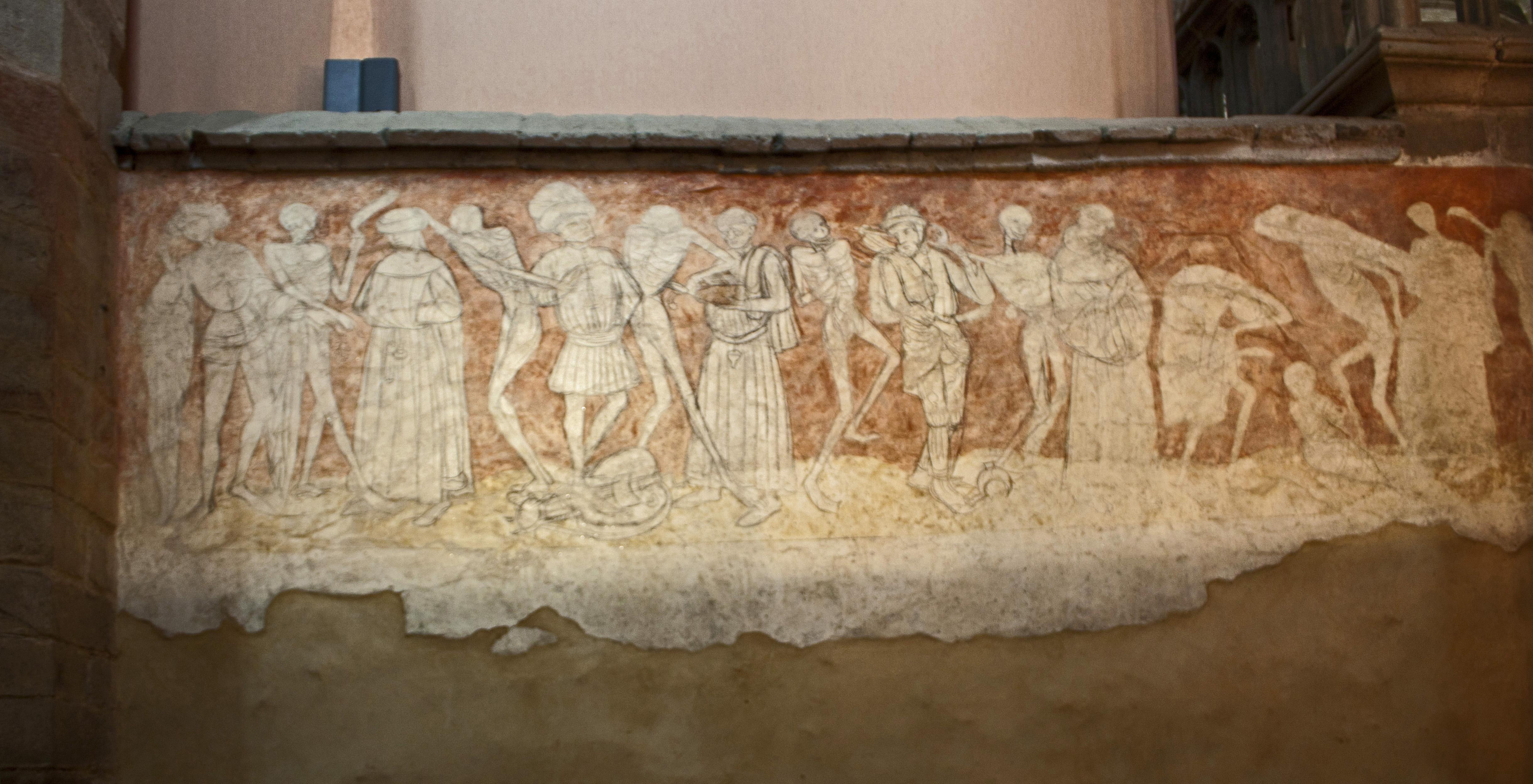 File abbaye saint robert de la chaise dieu danse macabre for Chaise dieu danse macabre