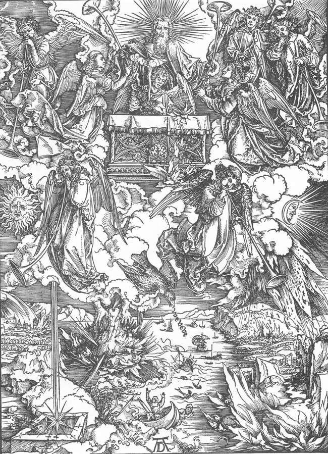 Apocalypse pilgrims Albrecht Durer Renaissance michelangelo da vinci sistine dragons