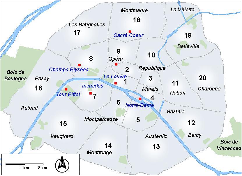 Cenário: A Cidade Luz Arrondissements-de-Paris