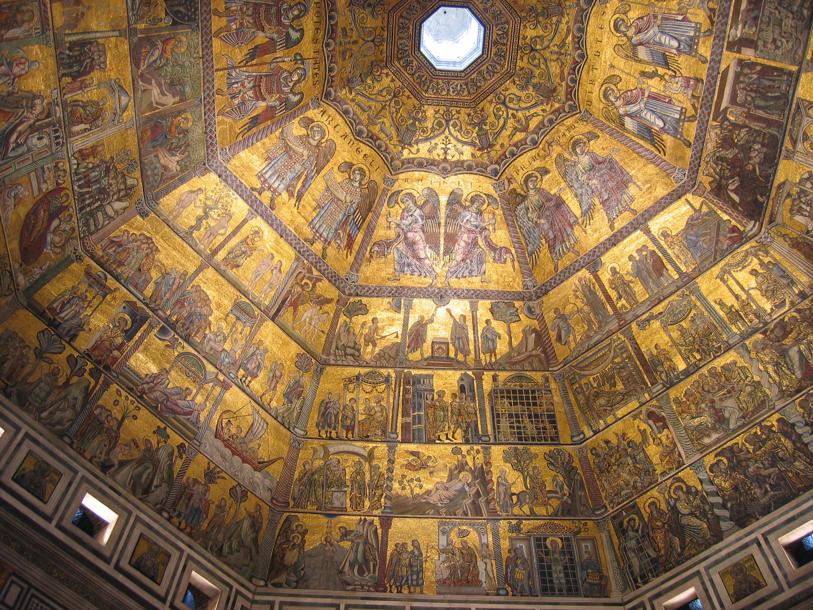 File Baptisterium San Giovanni Innenkuppel B Jpg