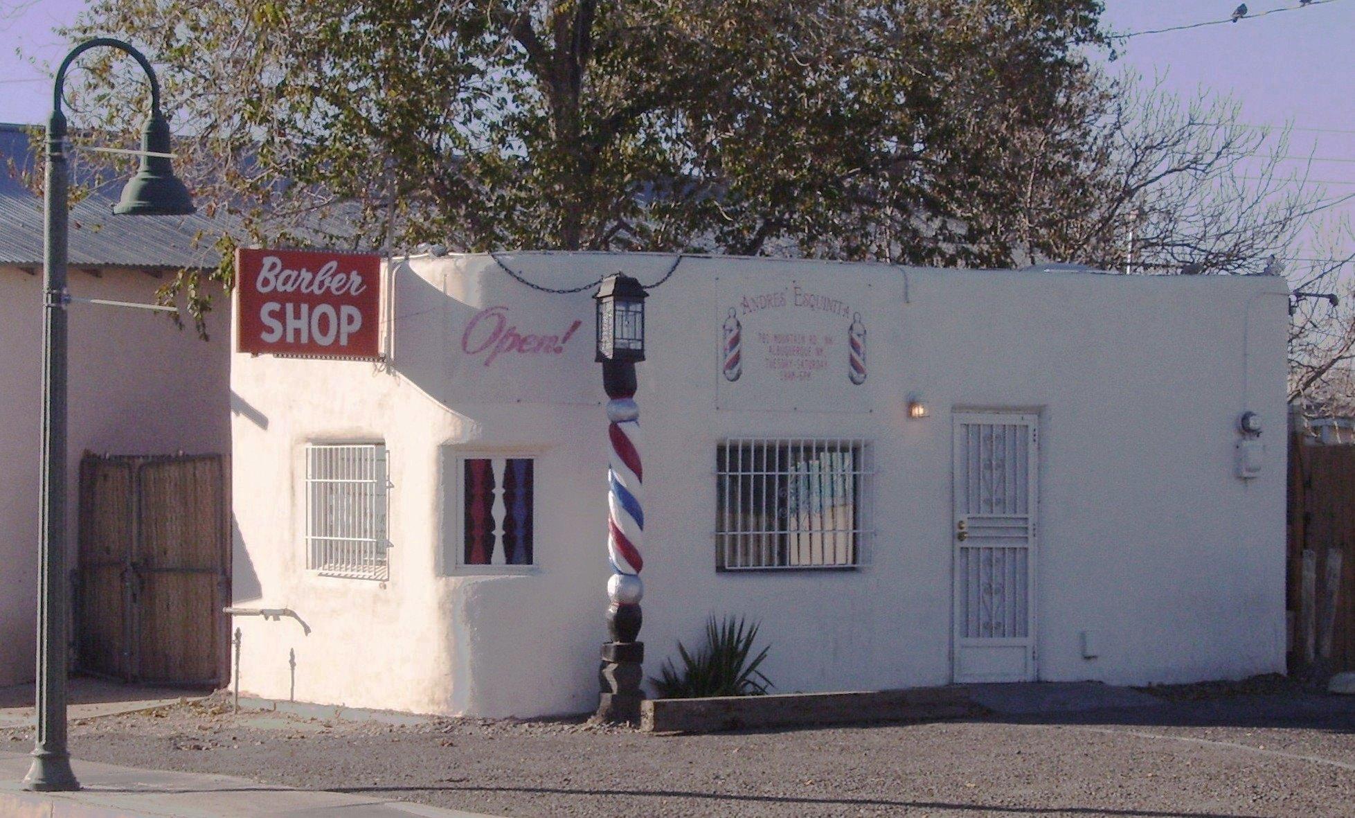 Barber Shops Near My Location : Description Barber shop Mountain Road near Old Town Albuquerque.jpg