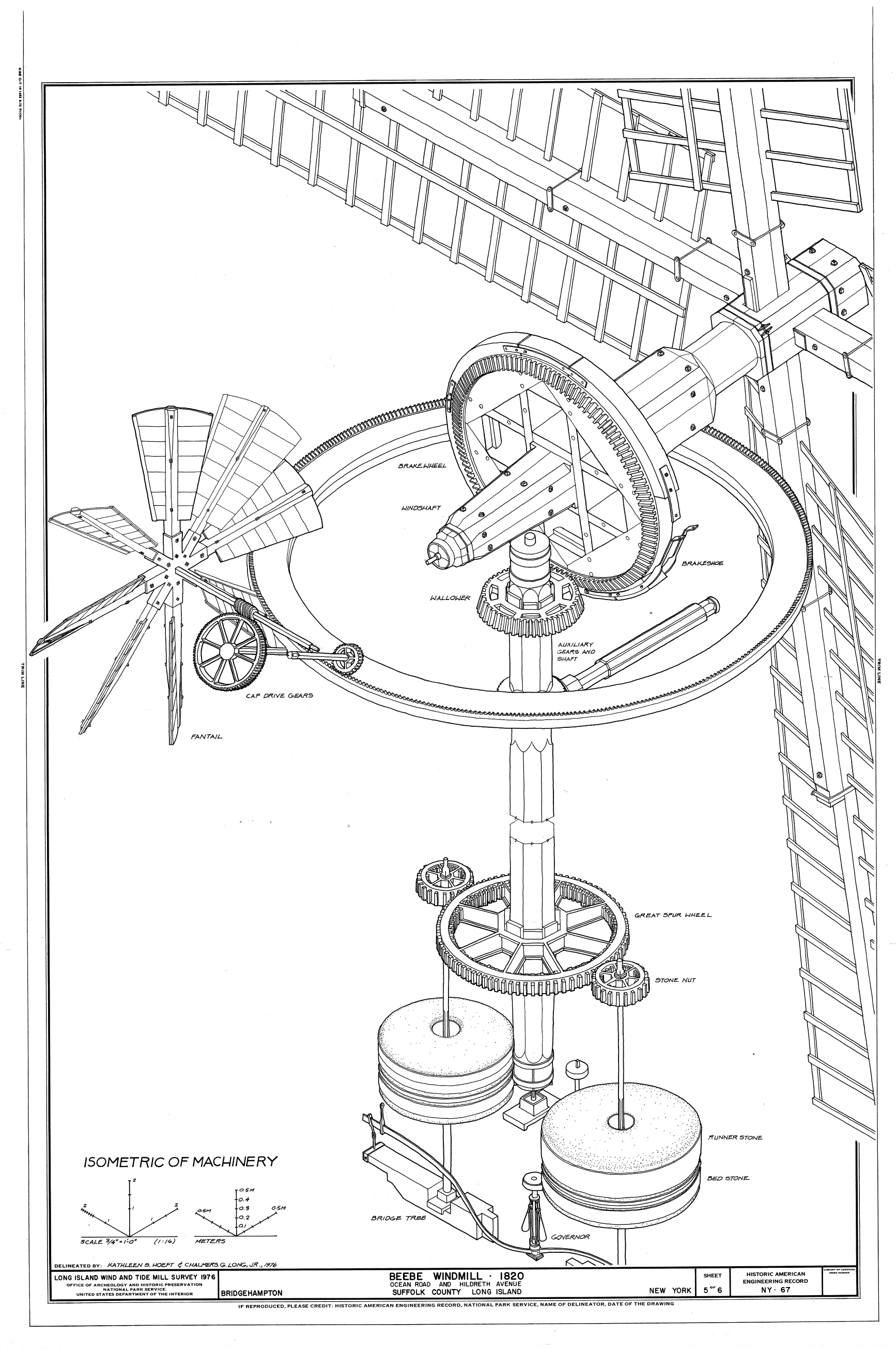 Wind Powered Factories History And Future Of Industrial Windmills Diy Turbine Wiring Diagrams Wingding Fantail Windmill Mechanism Illustration
