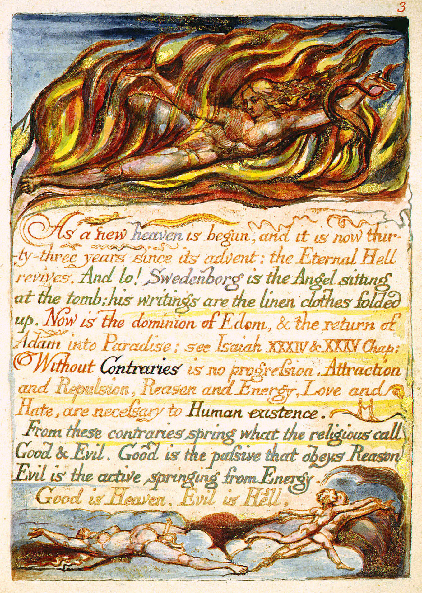 marriage heaven hell Marriage of heaven and hell rare book for sale this by william blake is available at bauman rare books.