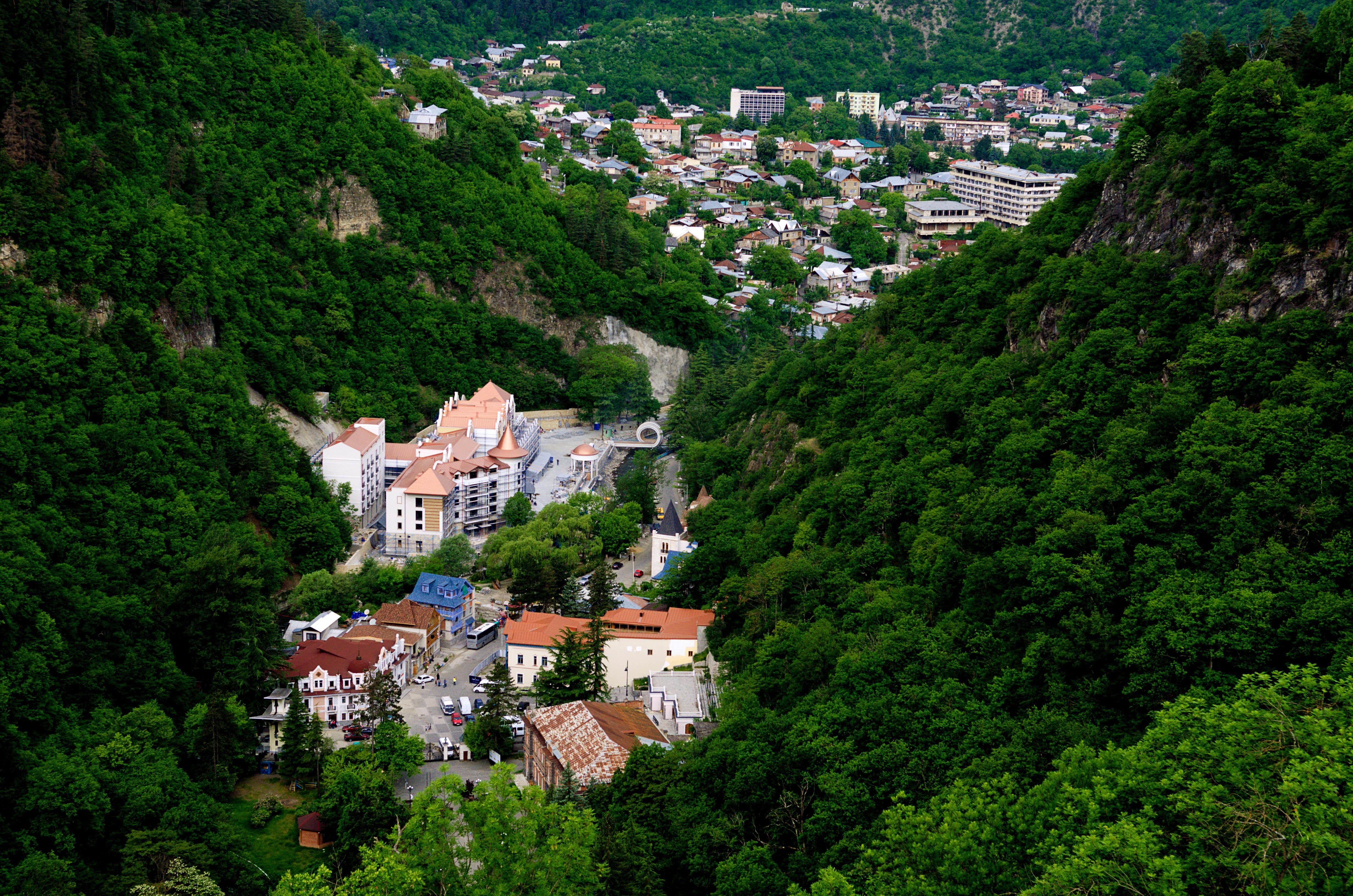 Overlooking Borjomi amid the Lesser Caucasus