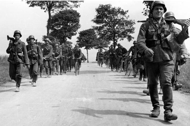 1940 - postup německých vojsk Francií