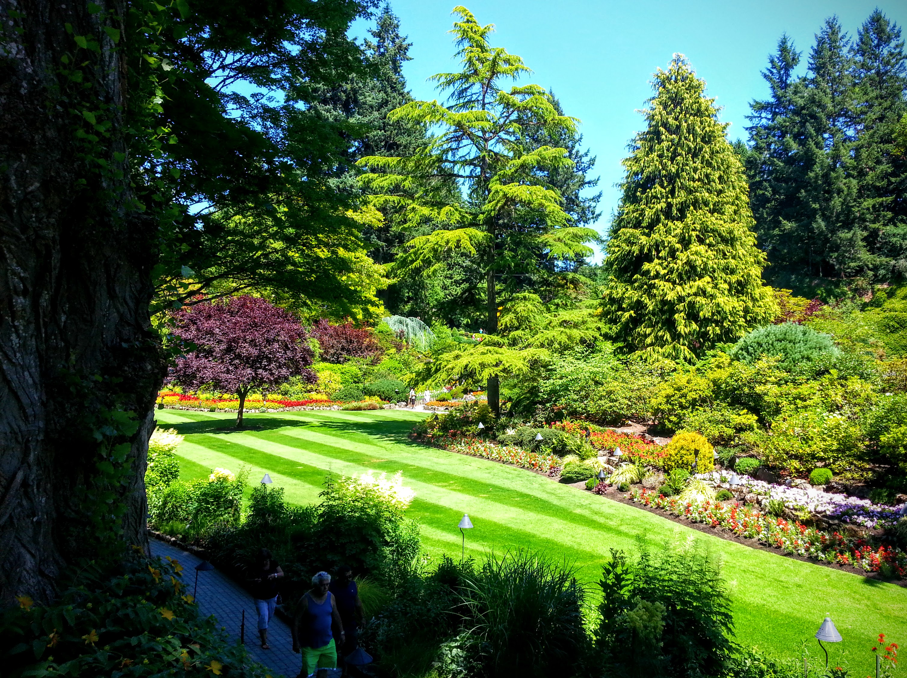 Butchart Gardens Victoria In April Garden Ftempo