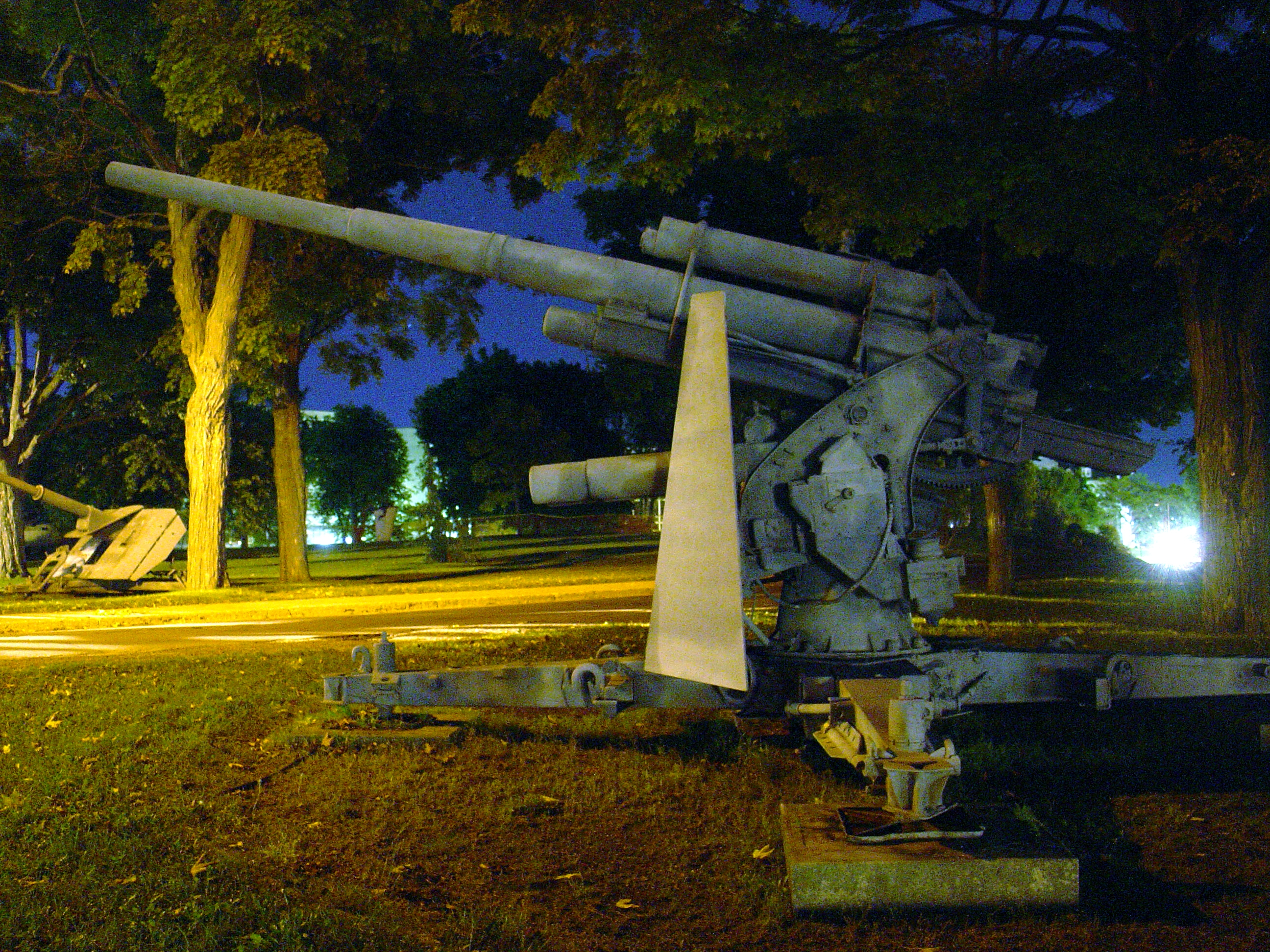German 88 mm guns at the  Royal Military College of Canada