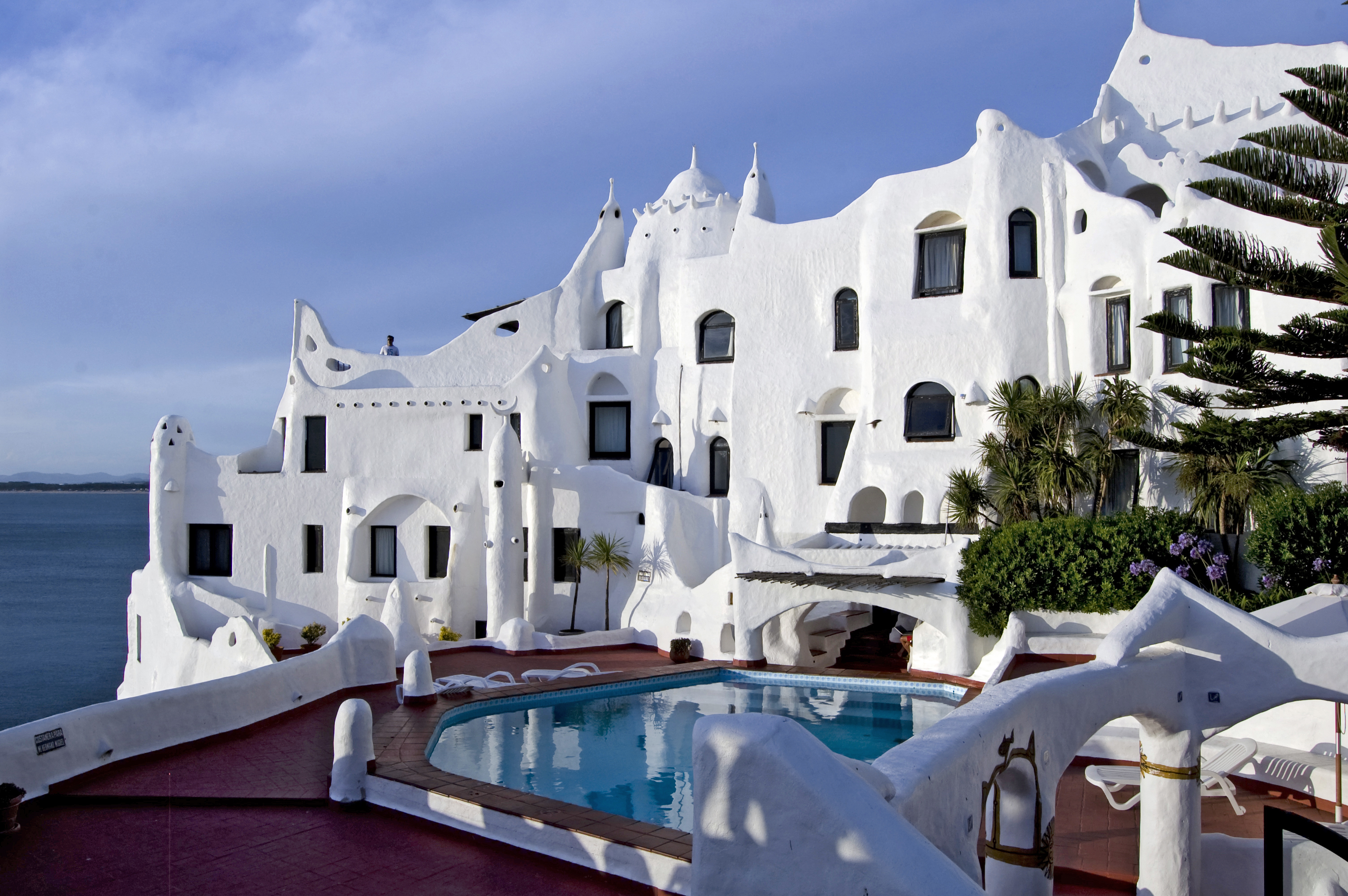 """A """"livable sculpture"""", Carlos Páez Vilaró's Casapueblo was his home, hotel and museum."""