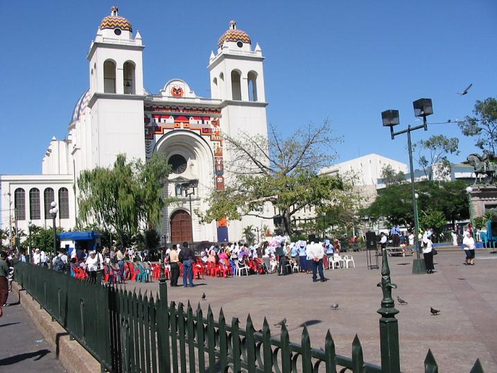 San Salvador Cathedral. Image available on Wikipedia (GNU Free Documentation License).