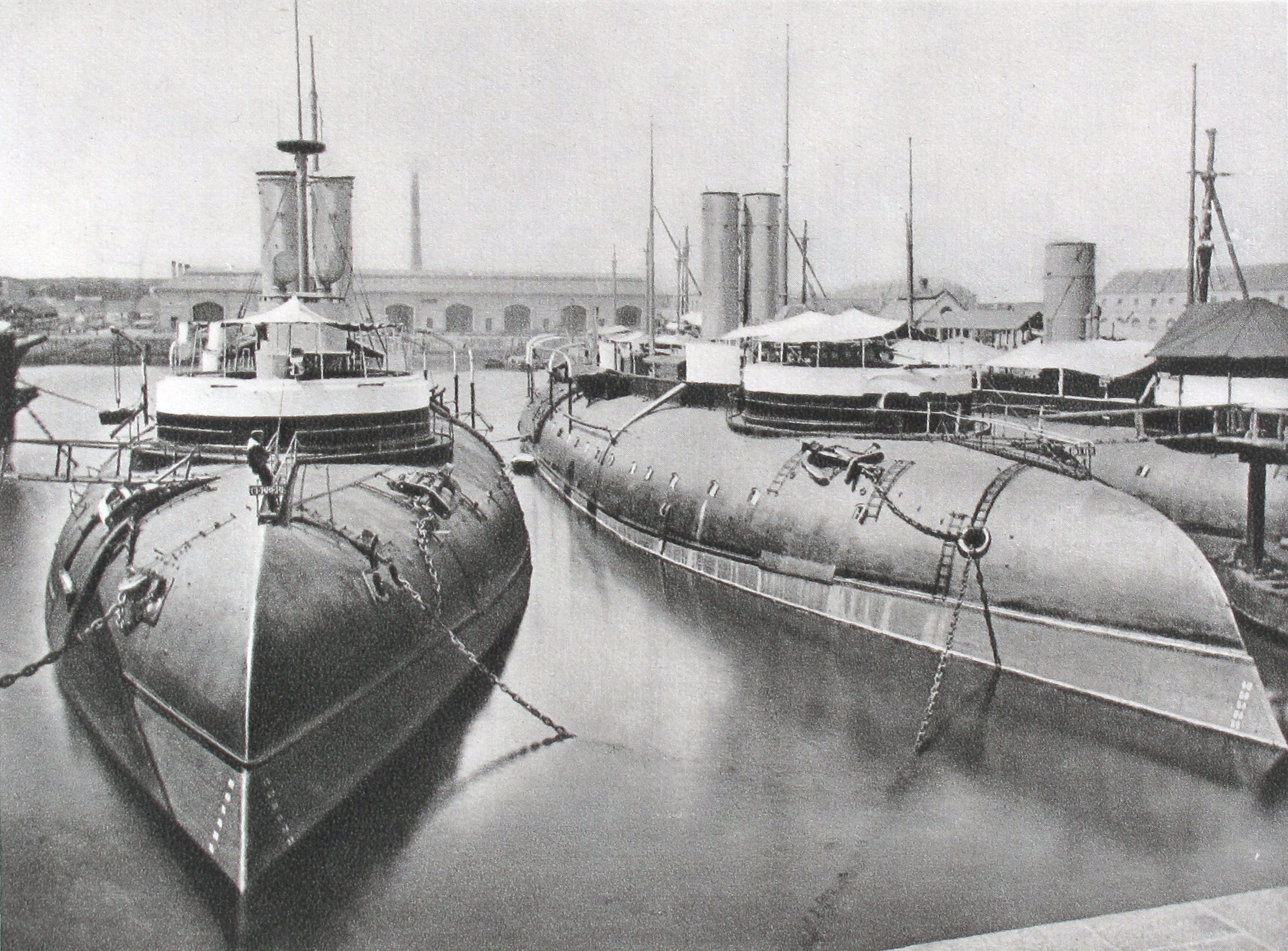 Before torpedoes: the ram ships: Cerbère and Bélier