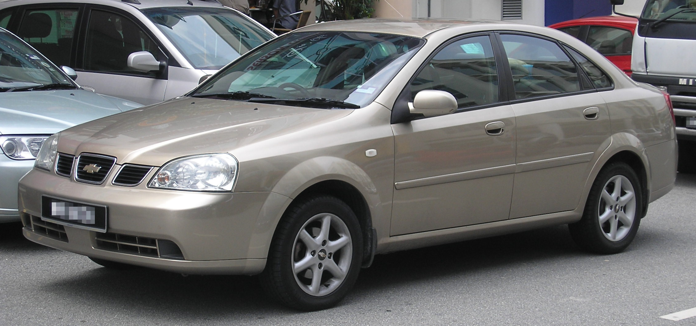 Description Chevrolet Optra (first generation) (front), Serdang.jpg