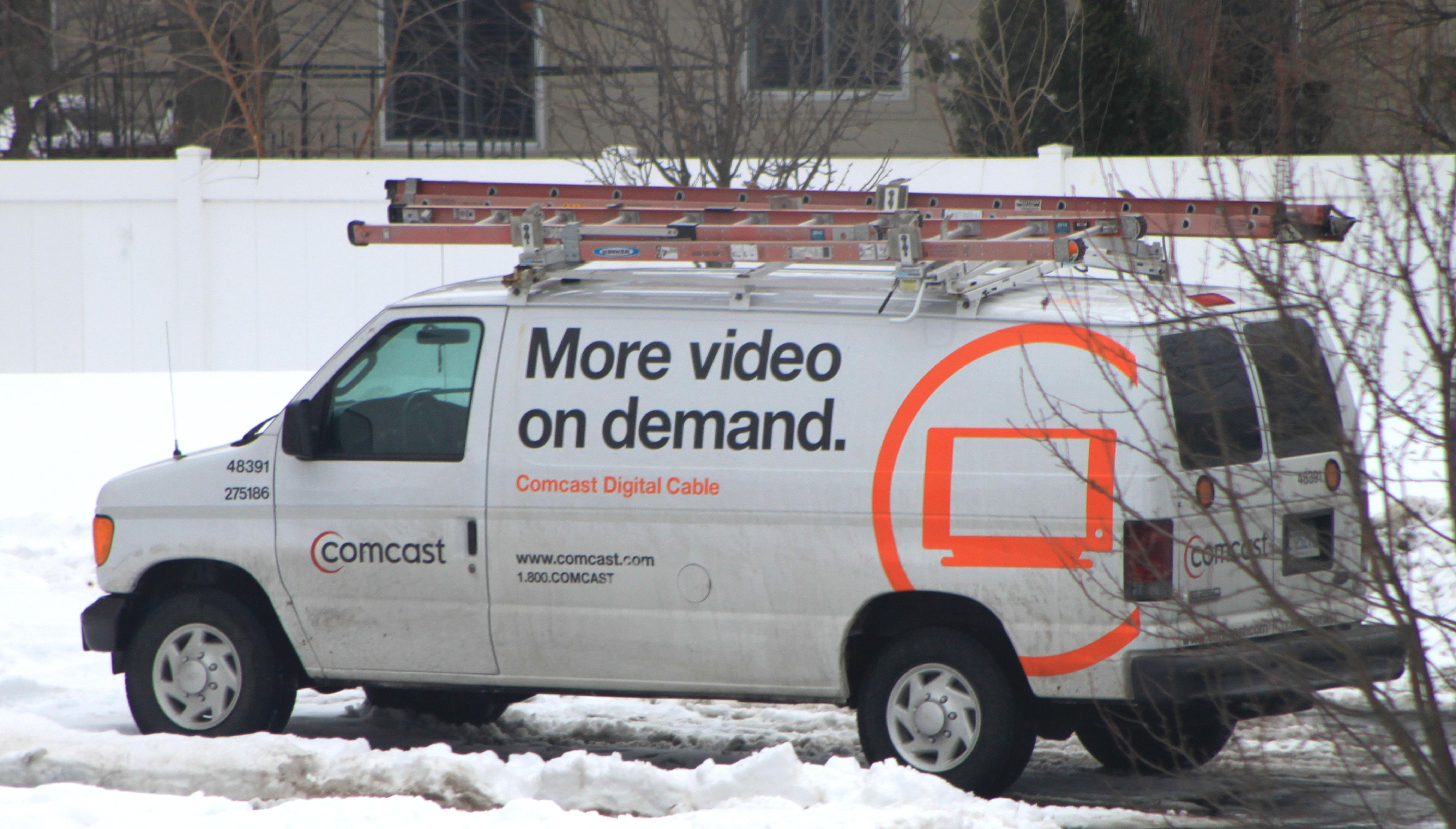Comcast service van, Ypsilanti Township, Michigan
