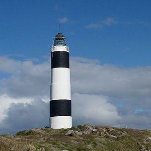 Lighthouse at Foveaux Strait, New Zealand