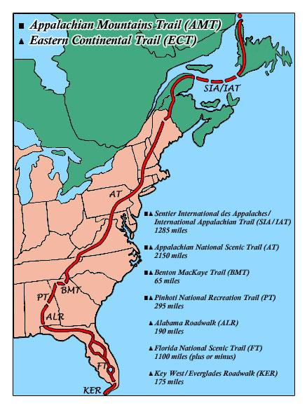 Florida Rails To Trails Map.Eastern Continental Trail Wikipedia