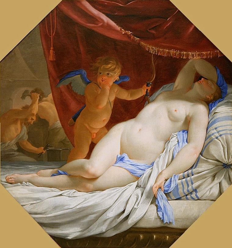 Eustache Le Sueur - Sleeping Venus, 1638-1639