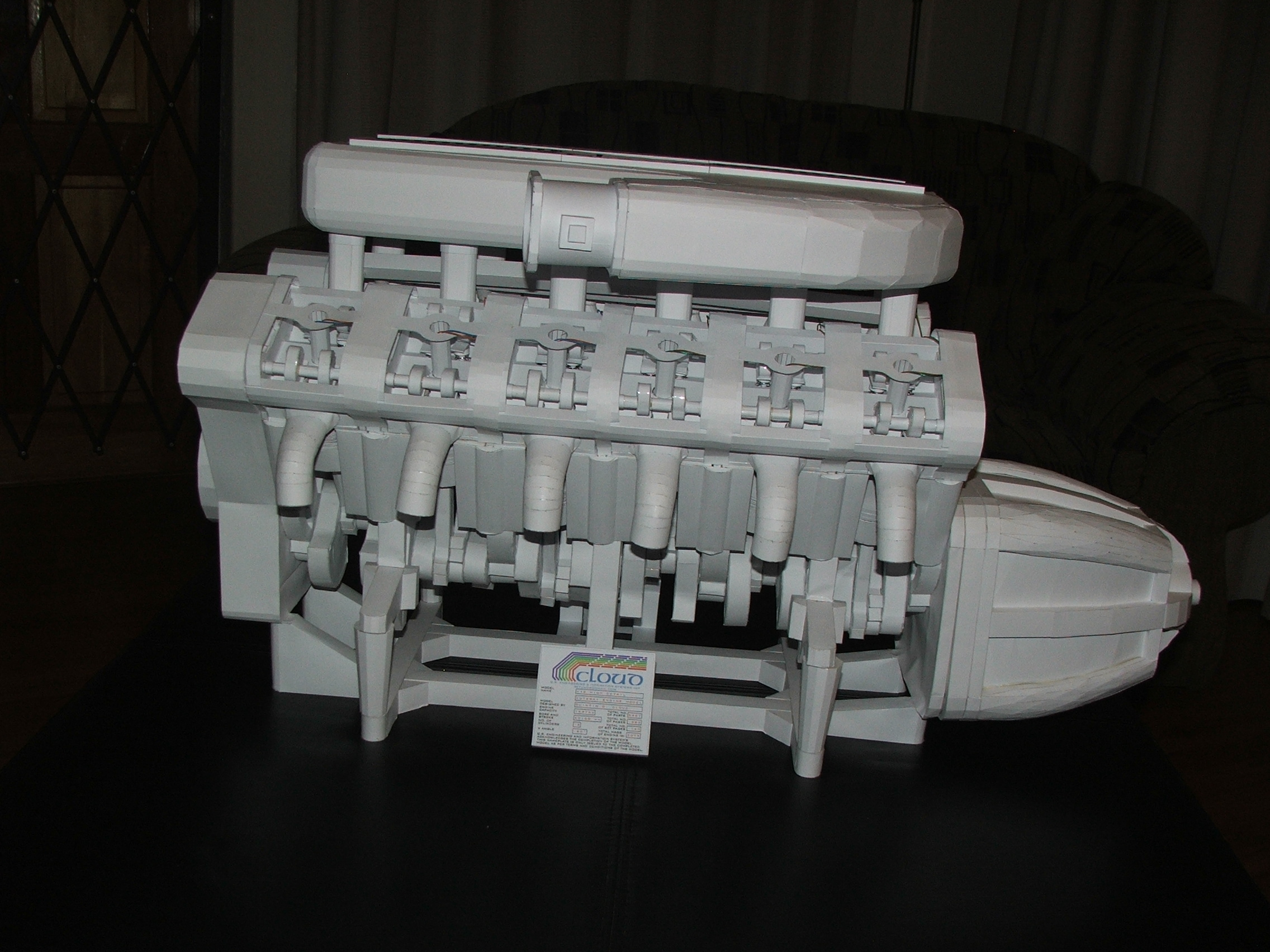 File:Example of a 3d model of a V12 engine by Quintin Cloud