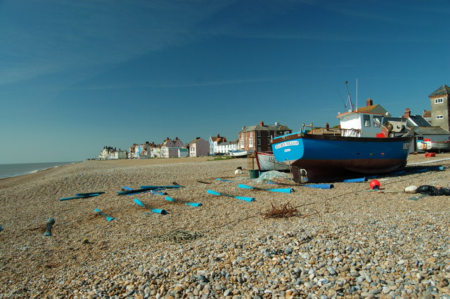 Fishing boat on Aldeburgh beach - geograph.org.uk - 362529