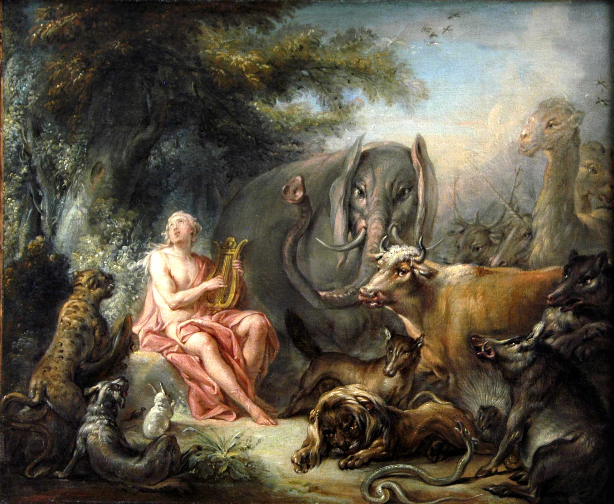 Fichier Francois Boucher Orphee Charmant Les Animaux 1740 Jpg Wikipedia