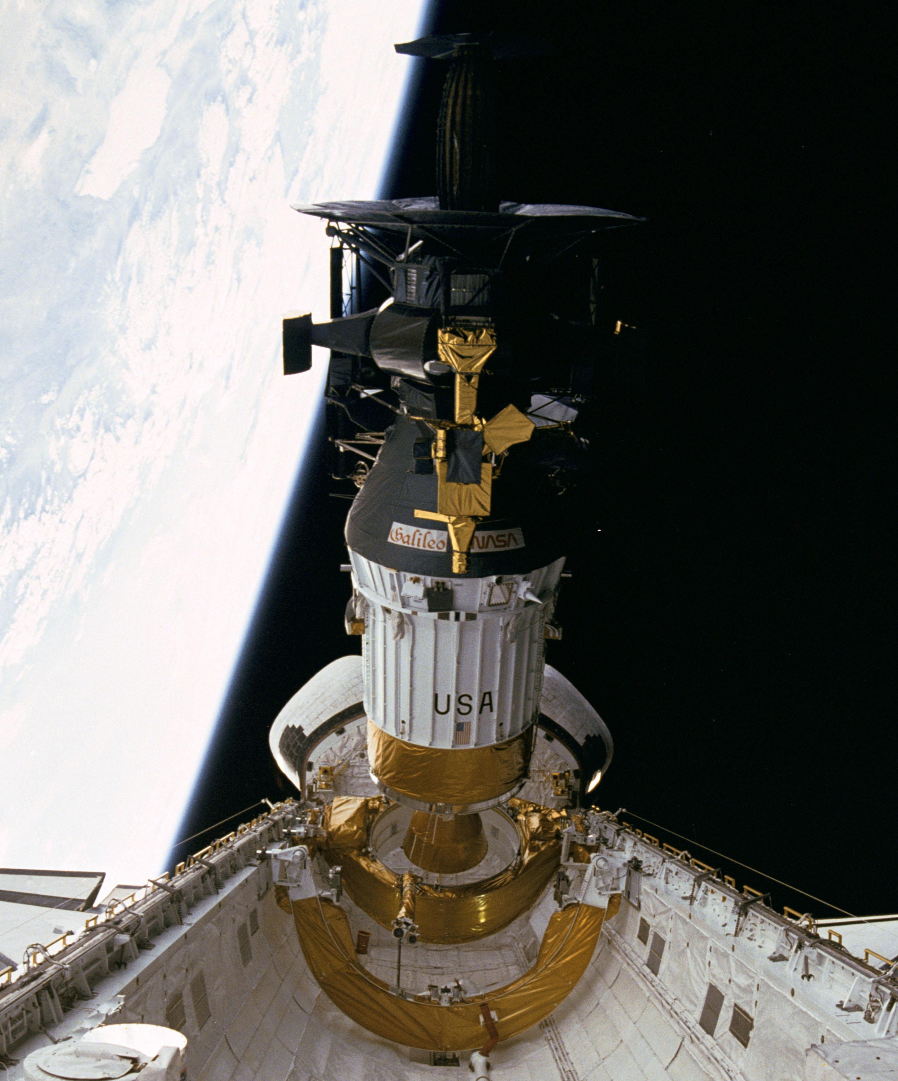 Hughes Galileo probe being deployed.