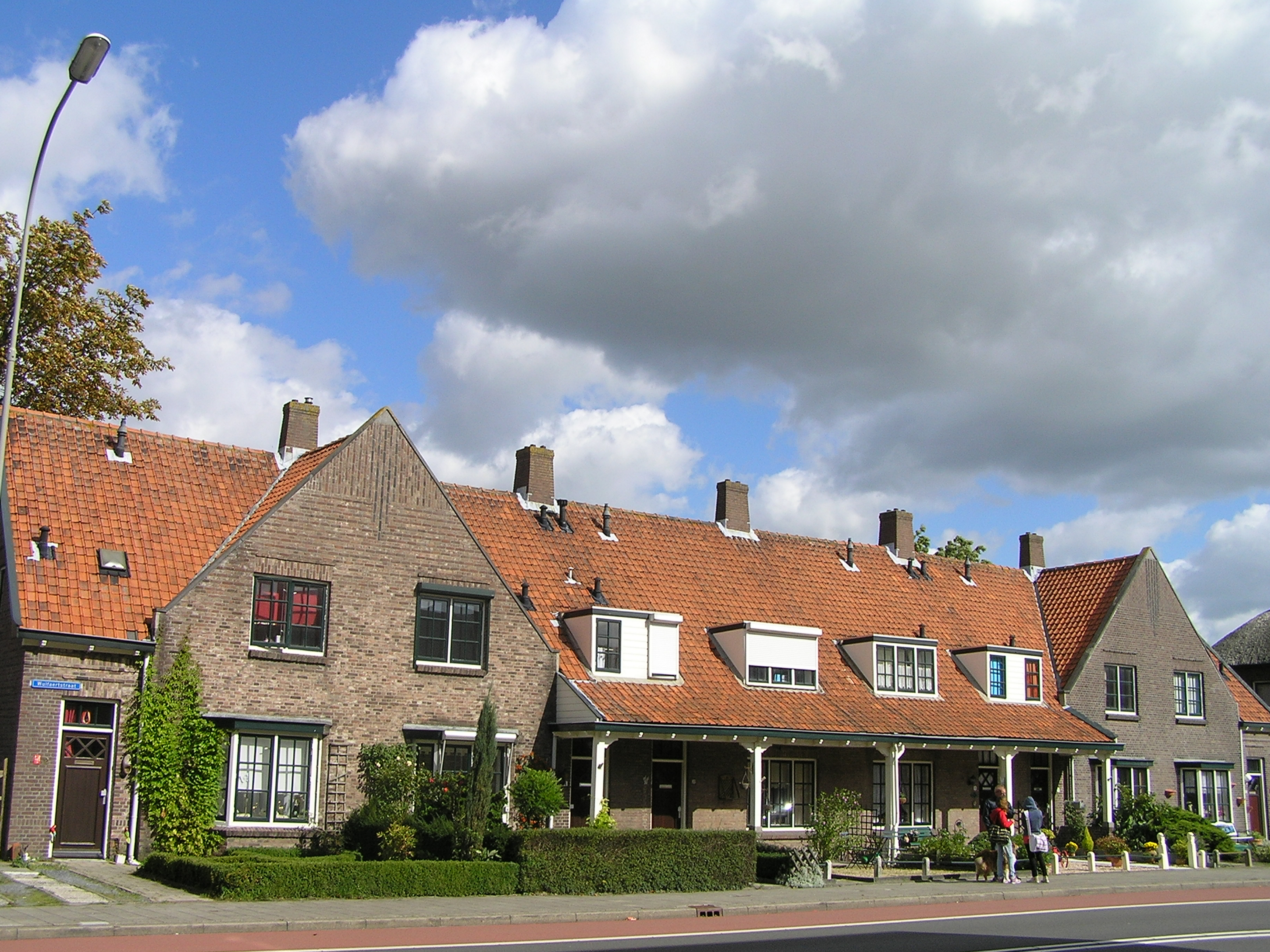 Blokje van zes geschakelde woningen in goes monument - Stad geschakelde ...