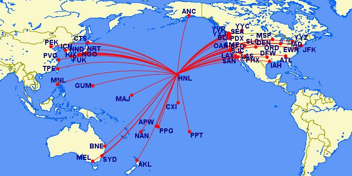 HNL routes