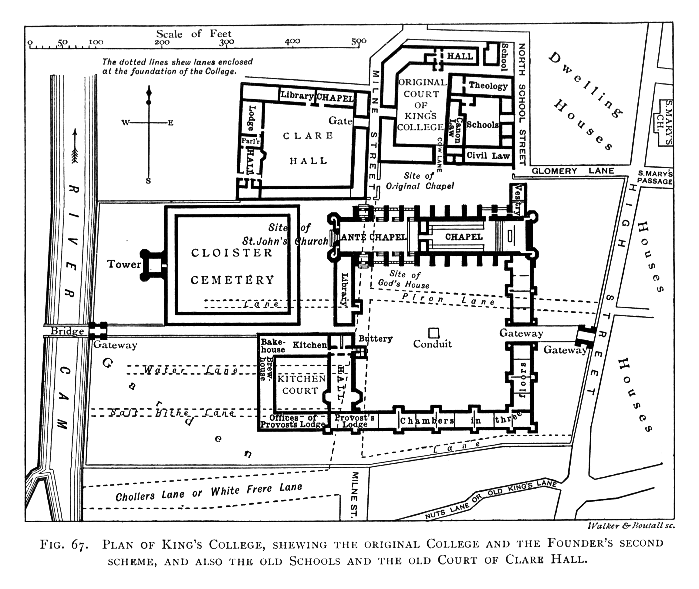 File Historical Plan Of King S College Cambridge