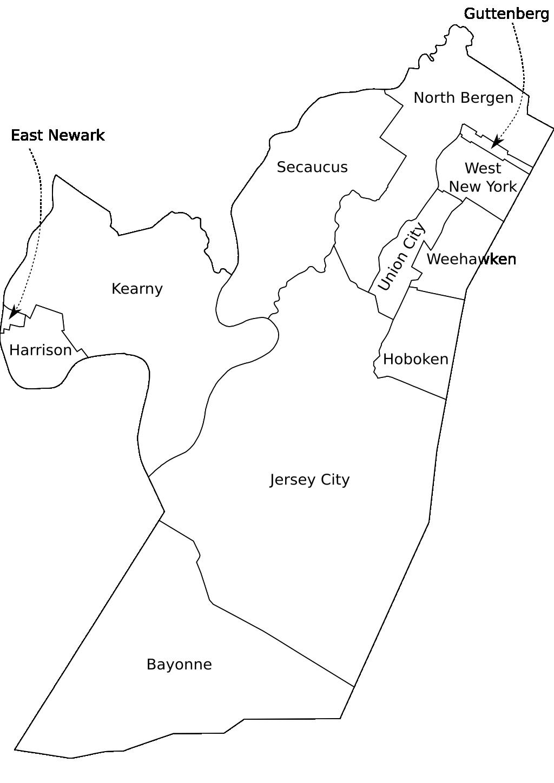 Map Of Hudson County Nj Map Of Hudson County Nj | Bedroom 2018