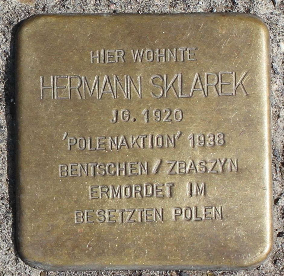 Stolperstein für Hermann Sklarek