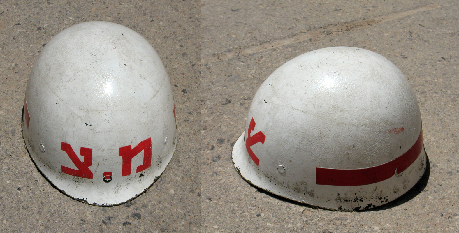 Description idf military police helmet