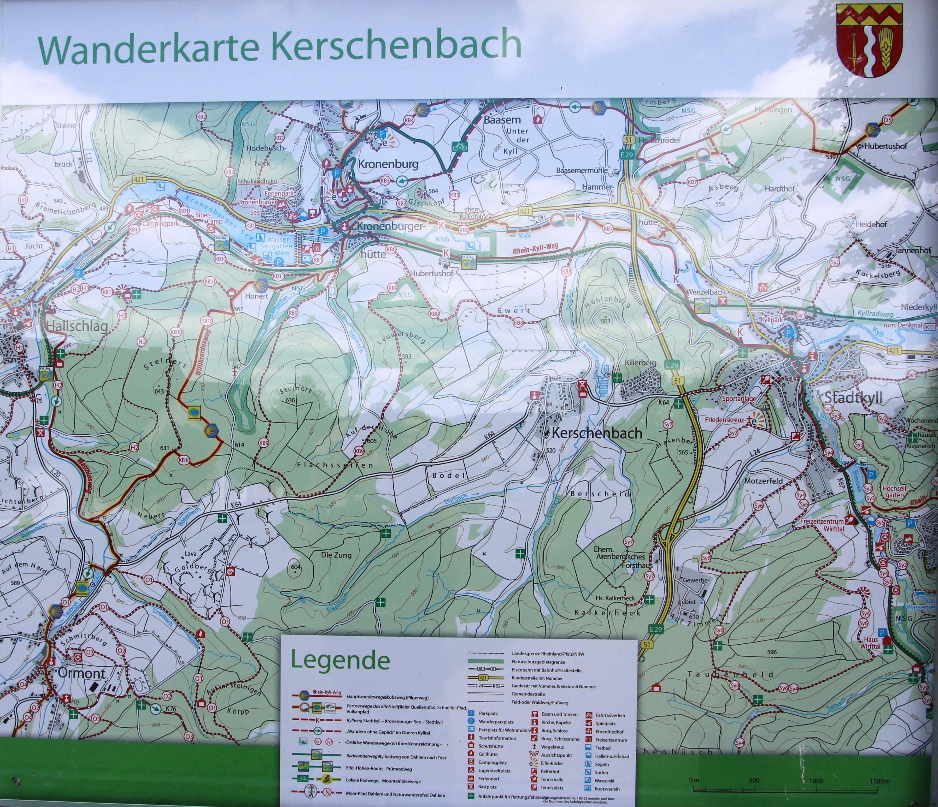 File Kerschenbach Eifel Wanderkarte A Jpg Wikimedia Commons