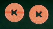 Clonazepam tablets Klonopin 0.5mg.