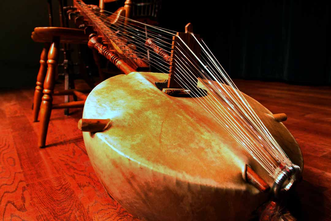 The Malian kora harp lute is perhaps the