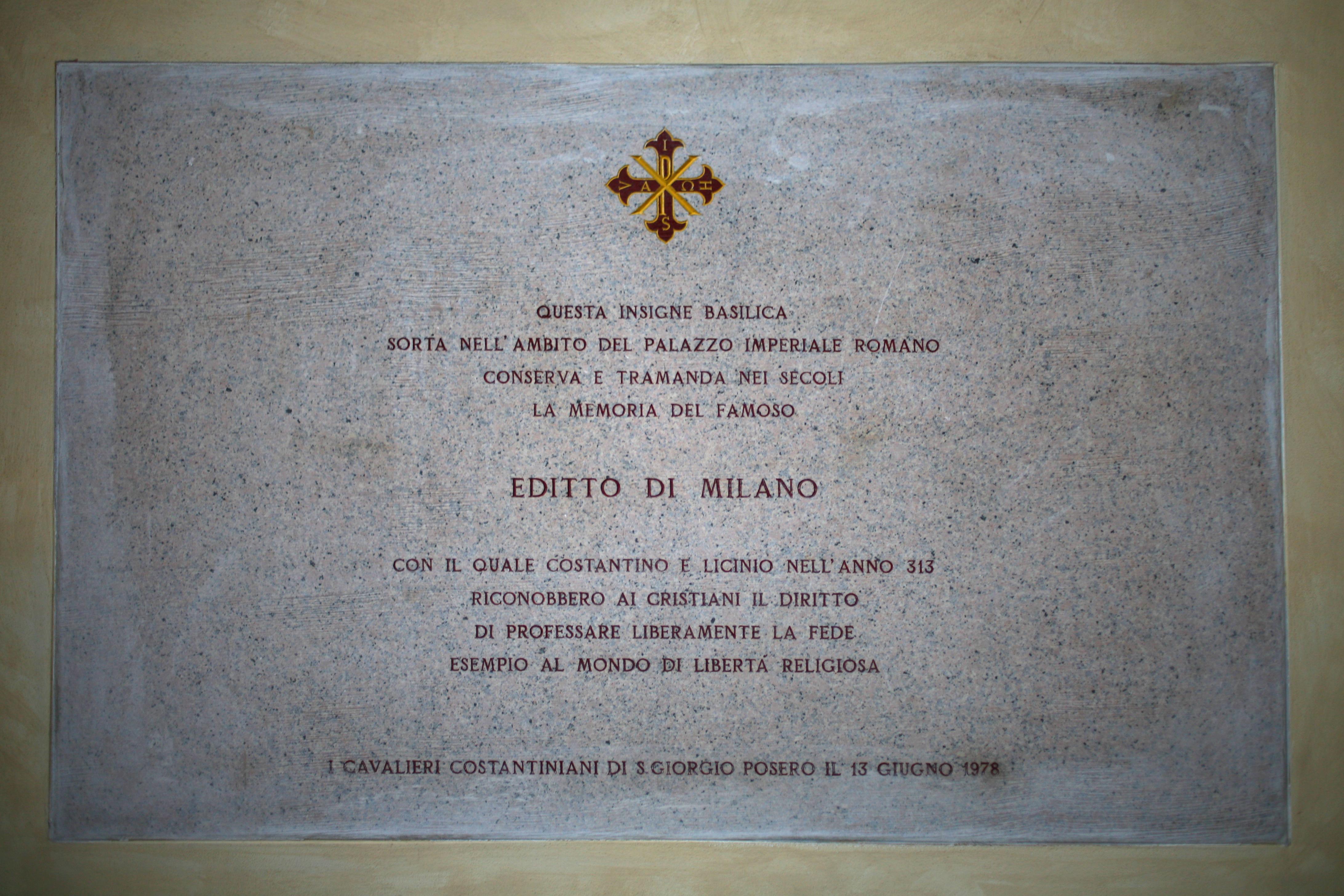 Veja o que saiu no Migalhas sobre Édito de Milão