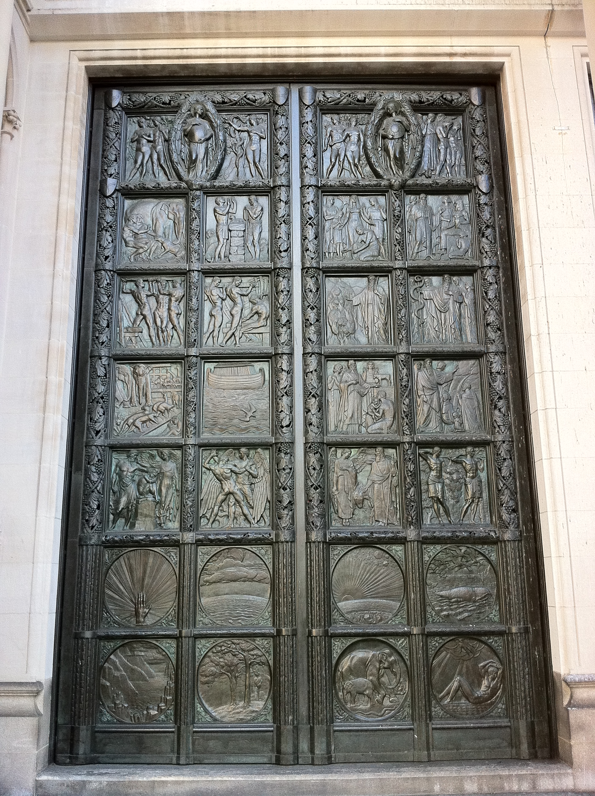 File:Left hand bronze door at the Cathedral of St John the Divine New & File:Left hand bronze door at the Cathedral of St John the Divine ... Pezcame.Com