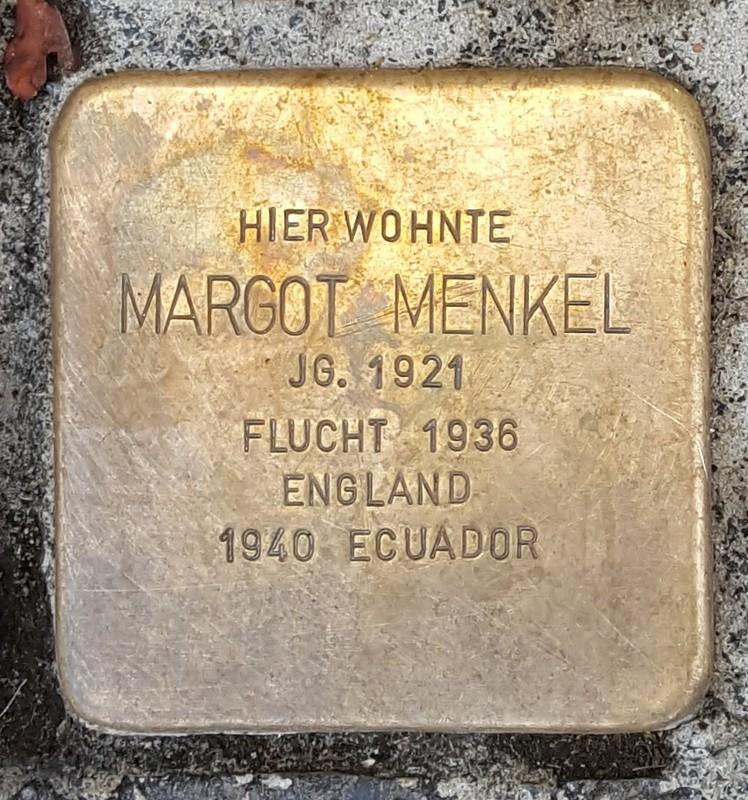 der Stolperstein für Margot Menkel