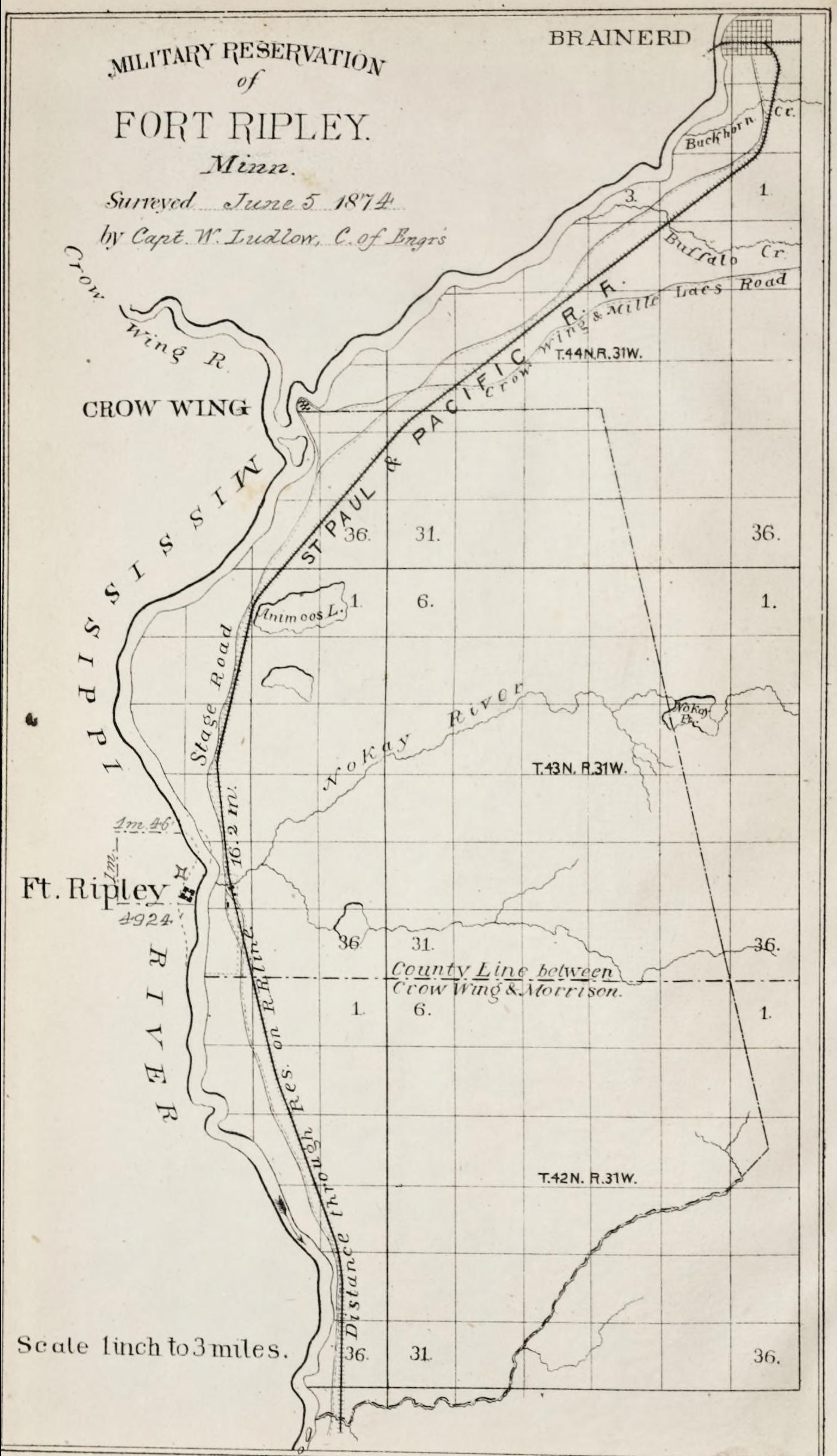 File:Military Reservation of Fort Ripley.png - Wikimedia Commons on camp san luis obispo map, camp grayling map, fort bridger map, camp parsons map, camp ashland map, camp rapid map, camp coniston map, camp butner map,