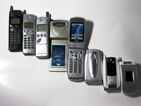 Mobile phone evolution Japan1997-2004