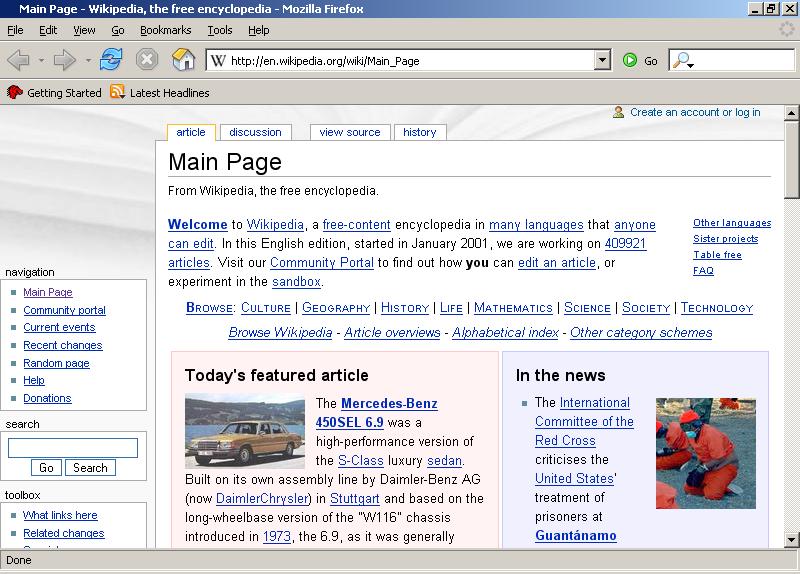 file mozilla firefox 1 0 front page screenshot png wikimedia commons
