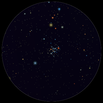 Depiction of NGC 3766
