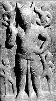 Nejamesa horned god of India