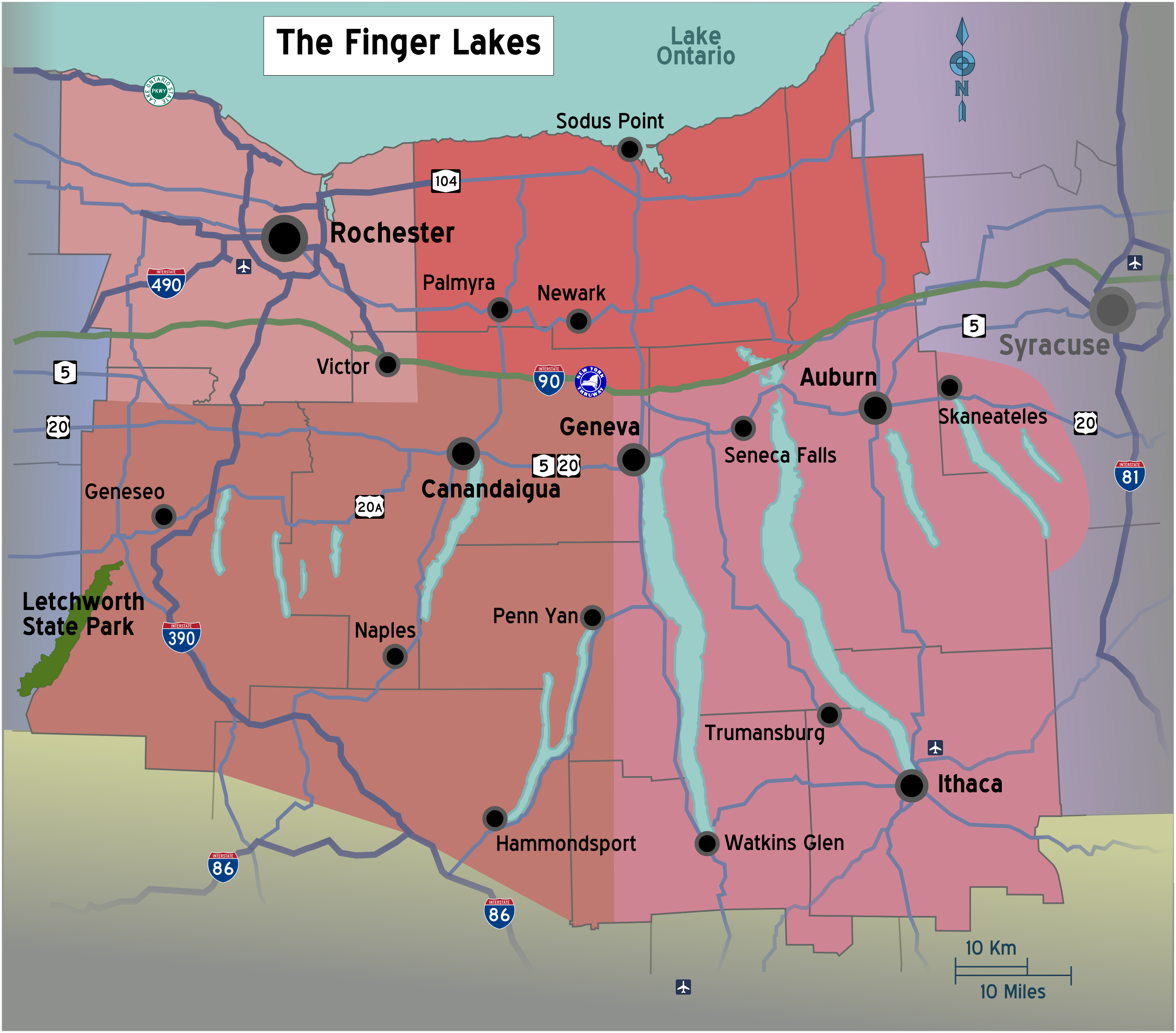 File:New York - Finger Lakes region map with road shields.png ...