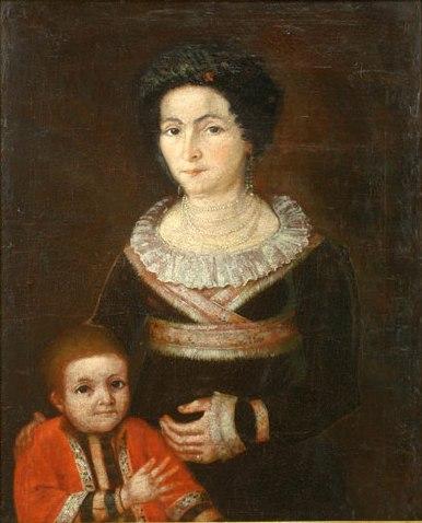 Imagini pentru Nicolae Polcovnicul, Portretul soției și al copilului