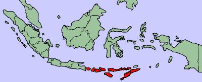 Nusa Tenggara (Bali, Lombok, Sumbawa, Flores, Timor, Sumba) - a part of Indonesia