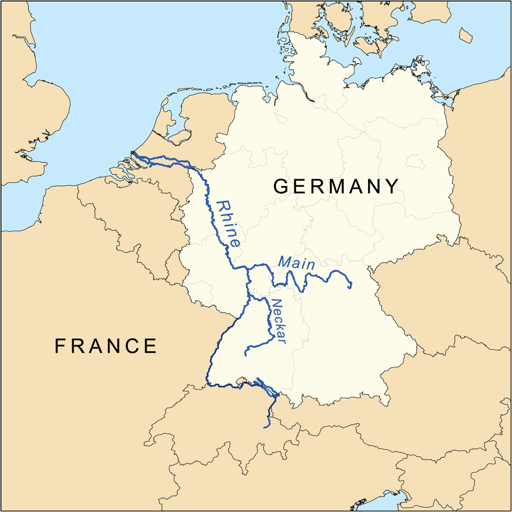 FilePalatines Rivers Mappng Wikimedia Commons - Germany map of rivers