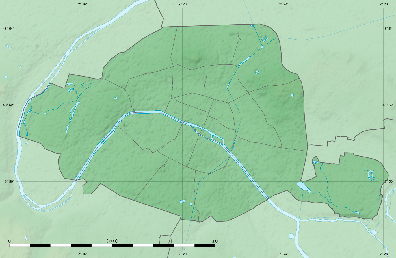 Paris department relief location mapjpg Maps of